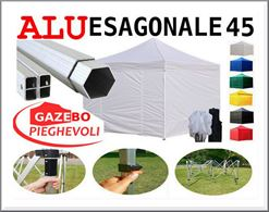 Gazebo 3x3 pieghevole Alluminio bianco mercati box stand pvc