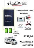 Kit Fotovoltaico Completo da 280W 21A